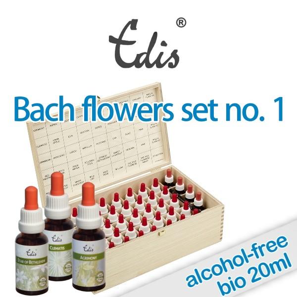 Organic Bach flowers set 20ml alcohol-free